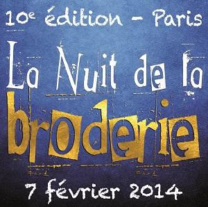 Logo de la Nuit de la Broderie